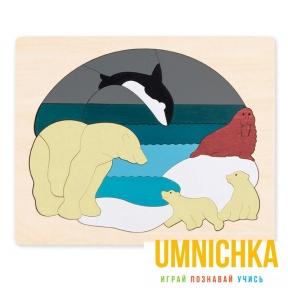 HAPE Двухсторонний пазл Животные Арктики серии George Luck